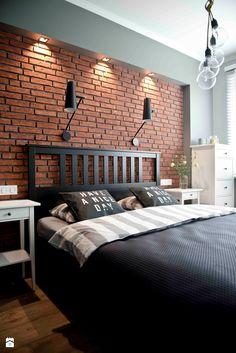 Sypialnia styl Nowoczesny - zdjęcie od Wielkie Rzeczy  DIY home  Pinterest  The edge, Brick ...