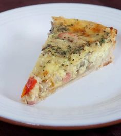 IRISH VERSION OF QUICHE - WITH SAVORY FLAVORING AND DUBLINER CHEESE.  FILLED WITH MUSHROOMS, HAM, AND CHERRY TOMATOES.  GREAT WARM FOR DINNER, OR COLD THE NEXT DAY FOR LUNCH.