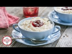 My One-Pot Rice Pudding is SO Comforting and Easy As 1-2-3 - YouTube Creamiest Rice Pudding Recipe, Creamy Rice Pudding, Pudding Recipes, No Cook Desserts, Sweet Desserts, Delicious Desserts, Dessert Dips, Dessert Recipes, Yummy Recipes