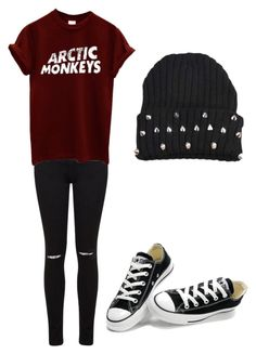 """""""Untitled #5"""" by xxlolasagexx ❤ liked on Polyvore featuring Miss Selfridge and Converse"""