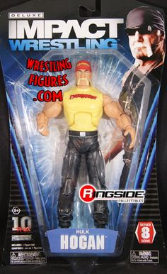 RINGSIDE COLLECTIBLES WWE Toys, Wrestling Action Figures, Jakks Pacific, Classic Superstars Action F: HULK HOGANTNA DELUXE IMPACT 8TNA Toy Wrestling Action Figure