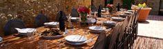 Dining alfresco Villa Barberino Tuscany