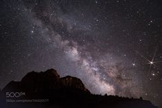Night sky over Zion  Milky way spans over a ridge in Zion National Park  Camera: Canon EOS 5D Mark III Lens: 24mm Focal Length: 24mm Shutter Speed: 20sec Aperture: f/1.4 ISO/Film: 800  Image credit: http://ift.tt/2aiYRiI Visit http://ift.tt/1qPHad3 and read how to see the #MilkyWay  #Galaxy #Stars #Nightscape #Astrophotography