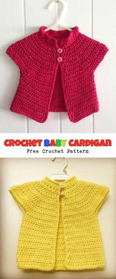 Crochet Baby Jacket - Tutorial ❥ 4U hilariafina http://www ...