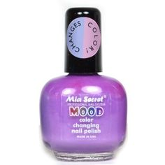 1 MIA SECRET MOOD COLOR CHANGING MD04 PURPLE to PINK NAIL POLISH LACQUER MADE IN USA  FREE EARRING >>> Want additional info? Click on the image. #sky