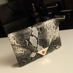 Women's Snake Skin Envelope Bag Day Clutches