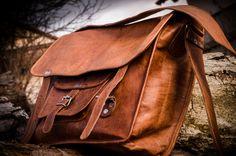 echtes Leder, Ledertasche Umhängetasche Collegetasche große natürliche Tasche