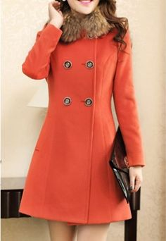 - Material: Polyester - Fabric Type: Worsted Yarn - Type: Slim - Clothing Length: Long - Sleeve Length: Full - Collar: Turn-down Collar - Pattern Type: Solid - Embellishment: Pockets Item : BK7072956M