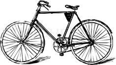 Stock vector of draw, bike, vector