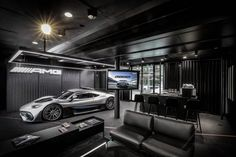 Mercedes-AMG One non parteciperà a Le Mans nella categoria hypercar - Mercedes Amg, Design Garage, Garage Interior Design, Plan Garage, Ultimate Garage, Modern Garage, Showroom Design, Garage House, Car Shop