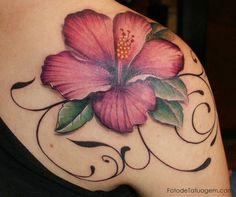Resultado de imagem para tatuagem de hibisco