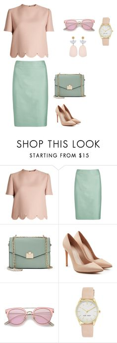 """""""Business set_1"""" by grinok on Polyvore featuring мода, Valentino, Armani Collezioni, Jennifer Lopez, Alexander McQueen, Nine West и Isabel Marant"""