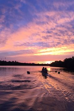 Union Boat Club Coxed 4 training at sunset 17 June
