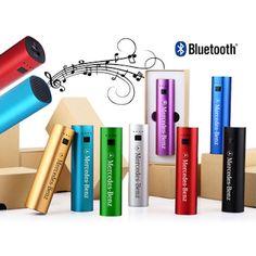 Don't give away the same old promotional products! Here are 7 Portable Speakers to Make Your Brand Stand Out! A 2-in-1 combo bluetooth speaker and power bank charger. | Newport Promotions