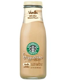 Gonna have to try this :) Starbucks Vanilla Frappuccino coffee drink copy: 1 1/2 c double brewed coffee, 6 c milk, 1/2 c sugar, 5 tsp vanilla extract. Makes 4-5 bottles (refill the bought ones).