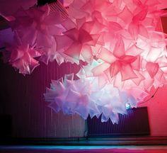 Robert Janson's Floating Plastic Bag Sculptures Resemble Giant Pink Jellyfish Robert Janson, creating plastic bag installation – Inhabitat - Sustainable Design Innovation, Eco Architecture, Green Building Jellyfish Light, Pink Jellyfish, Church Stage Design, Eco Architecture, Green Building, Sustainable Design, Staging, Lights, Beauty