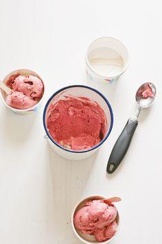 Vegan ice cream, made from banana and avocado