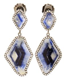 Kimberly McDonald Double Sapphire Slice and Diamond Drop Earrings Photo courtesy of Brown's Fashion