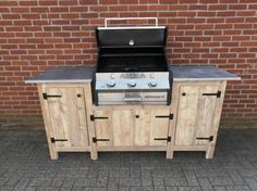 20 Wood Pallets Grill Station Design Ideas in Backyard