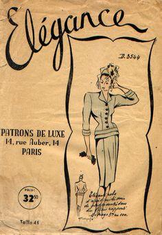 Patron Vintage, robe, années 40 Les Patrons de Luxe Élégance