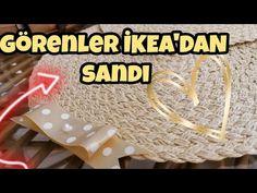 GÖRENLER İKEA'DAN SANDI ✨Hasır supla yapımı (Making a Underplate from straw) - YouTube Ikea, Macrame Tutorial, Denim Fashion, Diy And Crafts, Knitting, Crochet, Bikini Top, Etsy, Gym