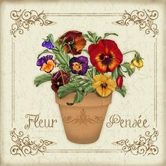 New print available on plout-gallery.artistwebsites.com! - 'Fleur Pensee-jp3024' by Jean Plout - http://plout-gallery.artistwebsites.com/featured/fleur-pensee-jp3024-jean-plout.html