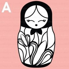 Russian Doll Rubber Stamp •  Matryoshka Babushka Stamp (Mini Craft Stamp) Stamping • Crafting • Card Making • DIY • Decorate • Favor (C1158) on Etsy, $5.00