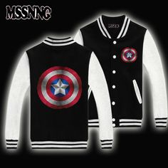 USA size  New Fashion Brand Clothing Baseball Jacket Coats Captain America Agents of SHIELD varsity Jackets Jacket plus *** AliExpress Affiliate's buyable pin. Locate the offer on www.aliexpress.com simply by clicking the VISIT button