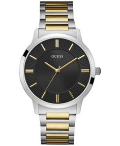 GUESS Men Two-Tone Stainless Steel Bracelet Watch 44mm 7e0b133a97c