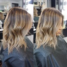 Cool toned sandy blonde BabyLights + Balayage Color Melt. Hair By Abigail Walston