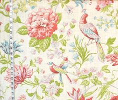 Bird of Paradise pink floral fabric from Brick House Fabric: Novelty Fabric
