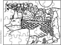 Feeding The Multitude Coloring Page Pages Are A Great Way To End Sunday School Lesson They Can Serve As Take Home Activity