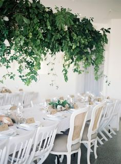 Greenery Installation for a Modern Neutral Wedding | Byron Loves Fawn Photography on @limnandlovely via @aislesociety