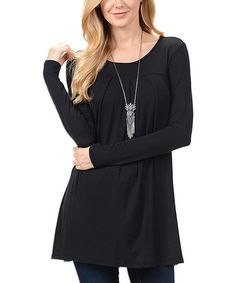 Look what I found on #zulily! Black Swing Tunic #zulilyfinds