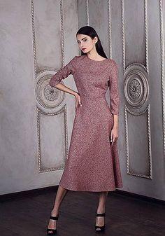 Бордовое платье от Katya Shteiner