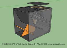 Skema box SPeaker WONDER HORN 18 inch Single | ARA AUDIO Diy Subwoofer, Subwoofer Box Design, Speaker Box Design, Dj Speakers, Speaker Plans, Audio Amplifier, Professional Audio, Dj Equipment, Electronics Projects