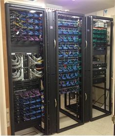 Cleaning up a server / network closet. They did a great job.