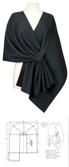Modisches Nähen - Handwerk Un abito (noto anche come abito. Modisches Nähen - Handwerk Un abi. Tunic Sewing Patterns, Clothing Patterns, Dress Patterns, Knit Fashion, Fashion Sewing, Sewing Clothes, Diy Clothes, Costura Fashion, Dressmaking
