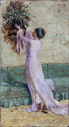 Osman Hamdi Bey - Vazo Yerleştiren Kadın