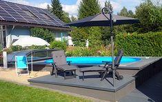 conZero Kunden Erfahrungsberichte | Poolakademie: Der Pool Shop für den Eigenbau des heimischen Pools Piscina Oval, Small Backyard Pools, Outdoor Furniture, Outdoor Decor, Sun Lounger, Home Decor, Pools, Home And Garden, Diy Swimming Pool