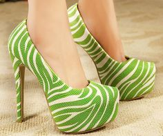 2014 spring Zebra colorful fashion ol dress shoes women pumps high heels platform evening shoes sexy stilletos plus size 35-44 US $42.98