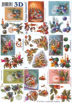 decoupage with Christmas decoration Christmas Card Images, Miniature Christmas, Christmas Minis, Christmas Paper, Holiday Cards, Christmas Crafts, Christmas Decorations, Art Deco Cards, Christmas Decoupage