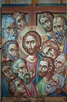 Znalezione obrazy dla zapytania christ and apostles medieval art Images Of Christ, Religious Images, Religious Icons, Religious Art, Byzantine Icons, Byzantine Art, Christian Artwork, Jesus Pictures, Catholic Art