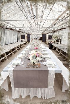 Conversations with the Muses: A Farm Wedding    old greenhouse as a reception hall...Brilliant!!