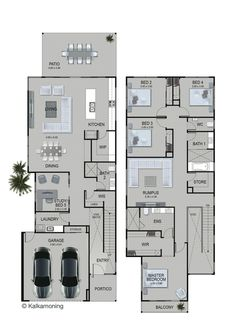 Extend Main Bed in line with lower level? House Layout Plans, Family House Plans, Dream House Plans, House Layouts, House Floor Plans, Two Storey House Plans, Narrow Lot House Plans, 2 Storey House Design, Modern House Design
