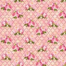 Peony Passion Peony Lattice Fabric - Pink