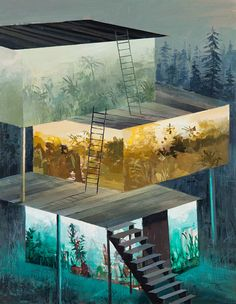 Split-Level Landscape Paintings by Jeremy Miranda.  (via http://jaredleto.com/thisiswhoireallyam/2013/04/12/painted-split-level-landscapes-by-jeremy-miranda/