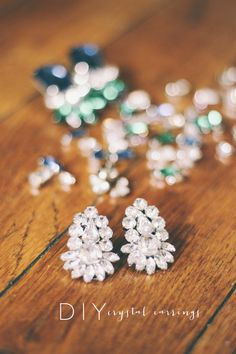 CLAD & Cloth rhinestone earrings DIY