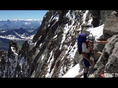 Hazel Findlay Climbing the Grandes Jorasses