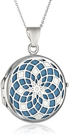 "Sterling Silver Italian Round Freeform Design Locket Necklace, 18"" Amazon Collection http://www.amazon.com/dp/B00KHNP2GM/ref=cm_sw_r_pi_dp_aUUTvb0NZ10RP"